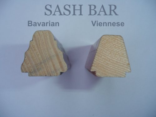 Difference between sash bar types